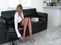 sexually excited stockinged aged british playgirl