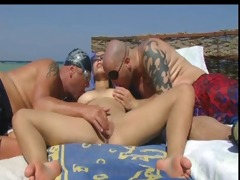 ilse has strangers visiting her on the beach 1 of