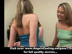 three superb hawt lesbo beauties walking and