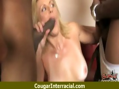 cougar copulates a giant darksome monster shlong