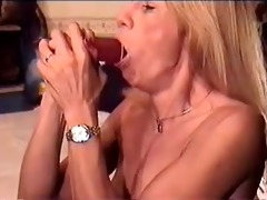 bitch practices with different dildos