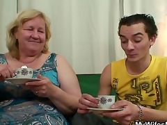 he is copulates her massive mama and receives