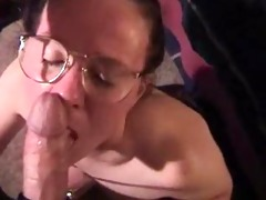 geeky cumfreak with glasses does everything
