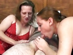 swinging mariah in a three-some with a small milf