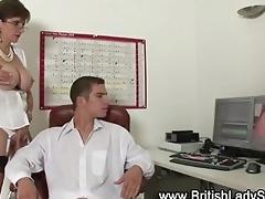 breasty british doxy ejaculation