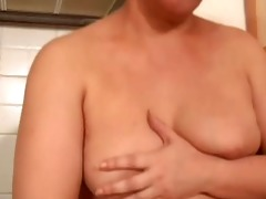 aged with charming stomach (masturbation)