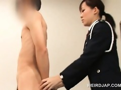 wicked oriental police woman bawdy cleft licked