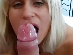 shy wife sucks her boyfriends ramrod for him on