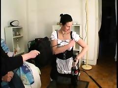 lea in maid uniform acquires screwed