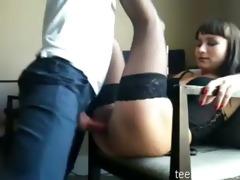 dilettante beatiful brunette hair anal sex