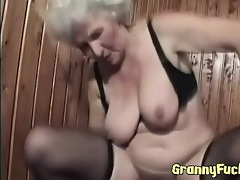 real concupiscent granny fucks younger man