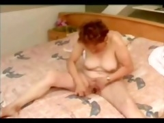 great masturbation of old floozy