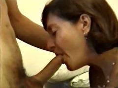 older honey giving sexy fellatio