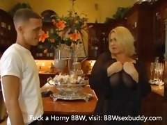 concupiscent big beautiful woman blond receives