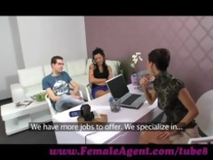femaleagent. dude becomes a third wheel in casting