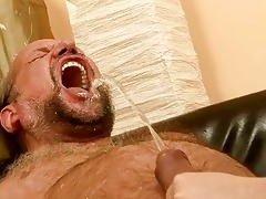 older man fucking and pissing on nasty redhead