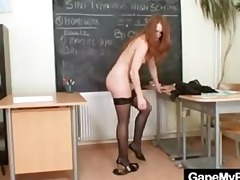 redhead chick denisa heaven naughty vagina gaping