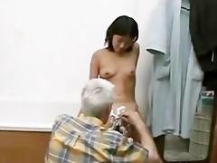 grand-dad and juvenile gal