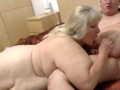 fatty granny with flaccid body &; lad