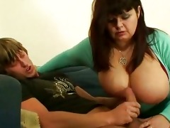 breasty older is pleased with her fucker motions