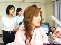 oriental wife is examining female workers part10