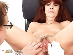 granny receives her puss gaped during a gyno