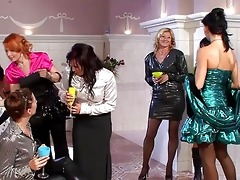 beautiful milfs in hawt dresses having group sex