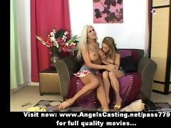 priceless breathtaking sweet blonde lesbian babes