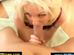 platinum blond mama giving a oral pleasure