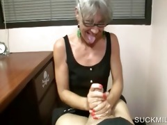pov oral stimulation with blond cougar