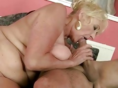 sexy granny fucking with her coach