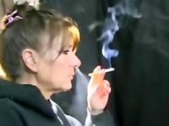granny smokin