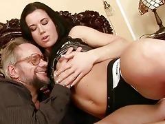 grandpa enjoys naughty sex with nice-looking