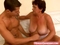 overweight granny oral job