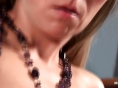 hawt aged beauty fucking her muff and clitoris