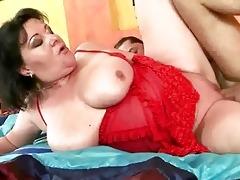 breasty corpulent grandma getting drilled hard