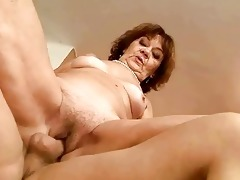 unsightly bulky granny riding juvenile dick