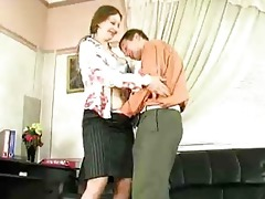 slutty aged lady have sex in office