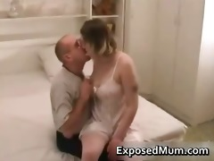 mother wearing hose penetrated