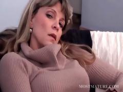 blond aged masturbates her hawt twat