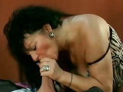 sexually excited mature woman with heavy bazookas