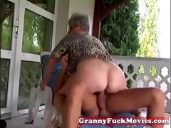 outdoor fucking grandma
