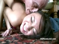 naughty old creep with large cock bonks horny