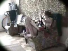 girlfriend masterbates on chair