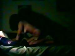 college gal rides her boyfriend on hidden cam.
