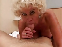lewd granny in hard pov action