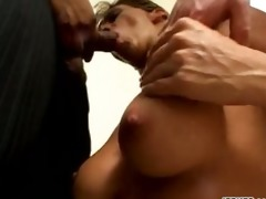 large breasted mamma in three-some sex