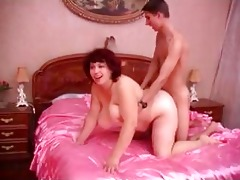 big beautiful woman mature russian on satin daybed