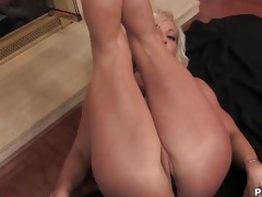 blond mama teasing and striping