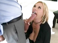 enormous chested blonde momma sticks massive jock